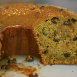 Pumpkin Raisin Rum Bundt Cake With Butter Rum Glaze recipe