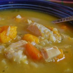 Duck Soup With Brown Rice and Yams recipe