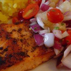 Grilled Cajun Salmon With Tomato Pineapple Salsa recipe