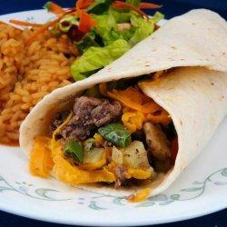 Easy Meat Burritos recipe