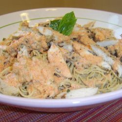 Chicken With a Red Pepper Cream Sauce recipe