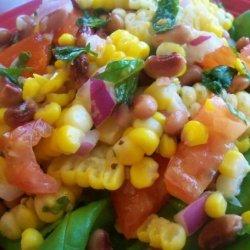 Pinto Bean, Fresh Corn and Tomato Salad recipe