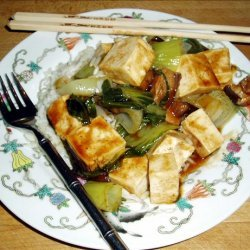Steamed Vegetables With Tofu and Oyster Flavored Sauce recipe