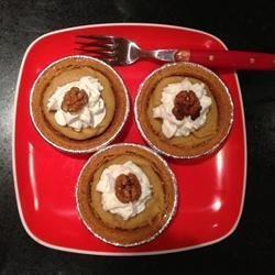 Mini Sweet Potato Pumpkin Pies recipe