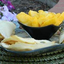 Peaches and Cream Wontons recipe