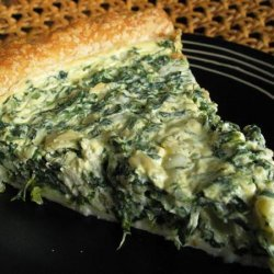 Tre's Spinach and Feta Cheese Quiche recipe