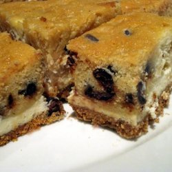 Chocolate Chip Cookie Dough Cheesecake Bars recipe