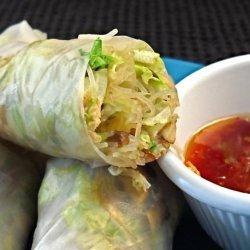Smoked Salmon Rice Paper Wraps recipe