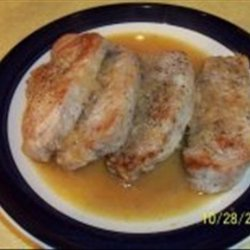 Pork Chops with Shallots in White Wine Sauce recipe