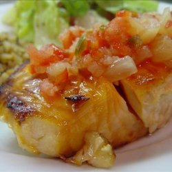 Maple-Glazed Salmon With Pineapple Salsa recipe