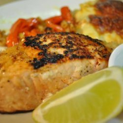 Lime and Garlic Salmon With Lime Mayonnaise recipe