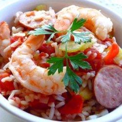 Ragin' Cajun Jambalaya (Crock Pot) recipe