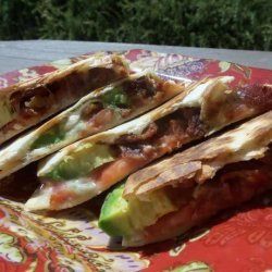 Bacon, Blue and Avocado Quesadilla recipe