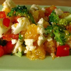 Cauliflower Orange Salad (Raw Food) recipe