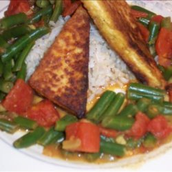 Curried Tofu and Green Beans recipe
