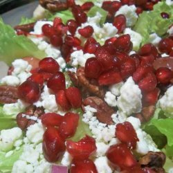 Holiday Pomegranate, Pear, and Grape Salad With Candied Pecans recipe