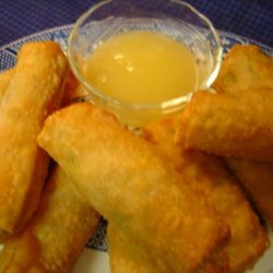 Savory Chicken Egg Rolls  With Sweet and Sour Sauce recipe