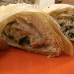 Spinach Phyllo Roll Ups recipe