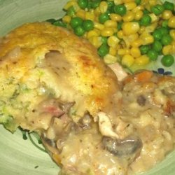 Crusty Chicken Casserole With Cheese Batter recipe