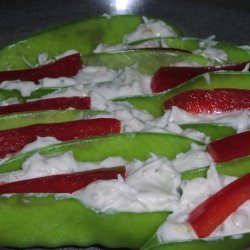 Crab Stuffed Snow Peas recipe
