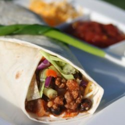 Tink's Spicy Beef & Black Bean Tacos recipe