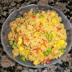 Curried Couscous With Chickpeas recipe