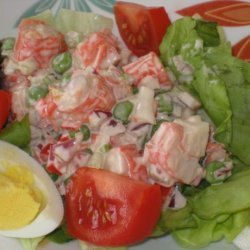 Mock Crab Louis Salad for Two recipe