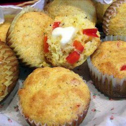 Corn Muffins with Sweet Red Peppers recipe