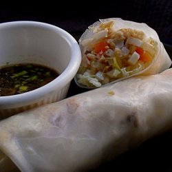 Salmon Summer Rolls With Dipping Sauce recipe