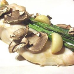 Garlic Chicken With Asparagus and Mushrooms recipe