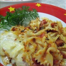 Bow Tie and Pepperoni Casserole recipe