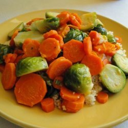 Citrus Carrots and Brussels Sprouts recipe