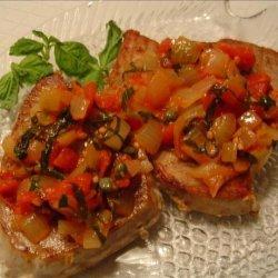 Tuna With Tomato Caper Basil Sauce recipe