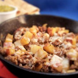 Potatoes and Sausage Skillet Fry recipe