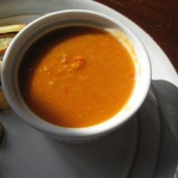Spiced Lentil and Roasted Vegetable Soup recipe
