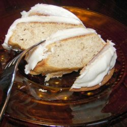 Banana Snack Cake With Brown-Butter Frosting recipe