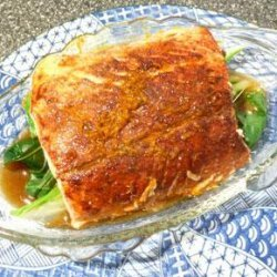 Chinese Five Spice Salmon With Ginger Broth recipe
