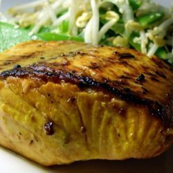 Lime Infused Atlantic Salmon With Asian Salad recipe