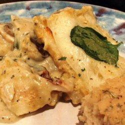 Lighter White Sauce Chicken Lasagna recipe