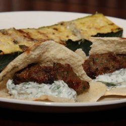 Meatballs With Grilled Pitas and Mint Yogurt Sauce recipe