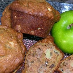 Apple Raisin Walnut Muffins recipe