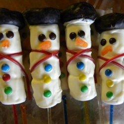 Snowman Bouquet or Pops recipe