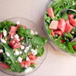 Watermelon, Arugula and  Pine Nut Salad recipe