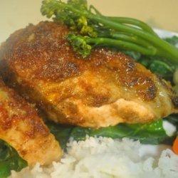 Spiced Chicken With Honey-Ginger Glaze recipe