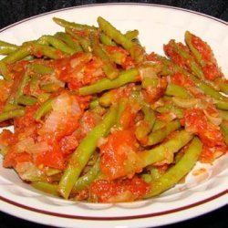 Green Beans Braised in Tomatoes recipe