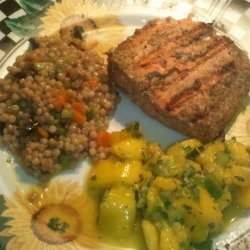 Tandoori Salmon Fillets with Mango Mint Relish recipe