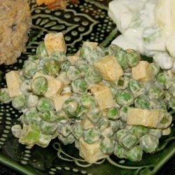 Quick & Simple Green Pea & Cheddar Salad recipe