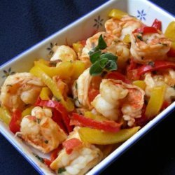Shrimp With Red and Yellow Peppers recipe