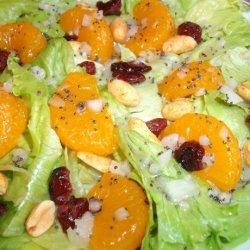 Mandarin Orange Salad With Peanuts recipe