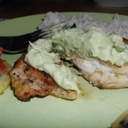 Cumin Dusted Chicken Breasts With Guacamole Sauce recipe